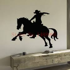 compare prices on cowboy murals online shopping buy low price e648 personalized wall stickers home decor diy poster mural vinyl decal boy room art murals animal