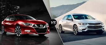 the 2016 chevy impala vs the 2016 nissan maxima mccluskey chevrolet
