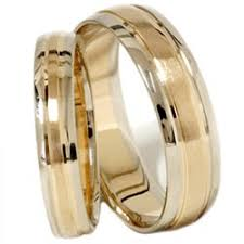 his and hers bridal gold wedding rings matching bands solid 14k brushed finish his