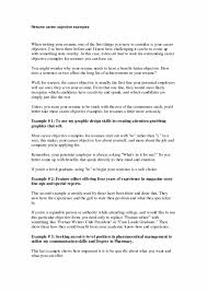 cover letter job objective for a resume a good job objective for