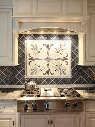 ceramic tile kitchen backsplash ideas kitchen ceramic backsplash tile ideas black with mosaic medalion