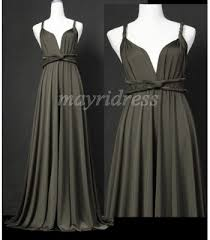 light grey infinity dress knee length infinity dress tea convertible dress mid length