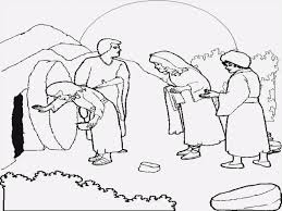 coloring page jesus is alive aygulumpage