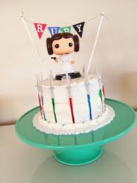 wars cakes a simple princess leia birthday cake for a serious wars fan