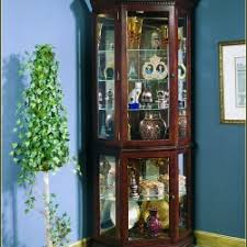 Glass Curio Cabinet With Lights Reputable Victoriana Curio Wall Cabinet Cherry Victoriana Wall