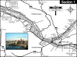 Ohio Pennsylvania Map by Ohio River At Pittsburgh Pa At Confluence Of Allegheny And