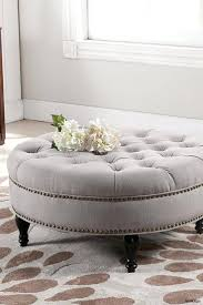 tufted square ottoman coffee table leather with storage black