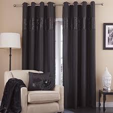 catherine lansfield silk sequin embellished eyelet curtains ebay