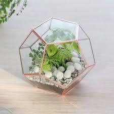 shop geometric glass terrarium indoor planter copper online now
