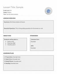 11 best images of everyday math lesson plan template high