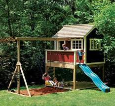 big backyard timber playhouse georgian backyard and yard