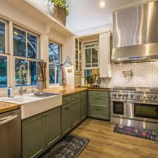 white kitchen cabinets with green countertops 75 beautiful kitchen with green cabinets and wood