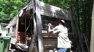 demolishing my camper to use the frame for a tiny house youtube demolishing my camper to use the frame for a tiny house