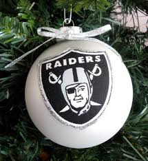 nfl oakland raiders 4 christmas ornaments by marilynschimmeyer