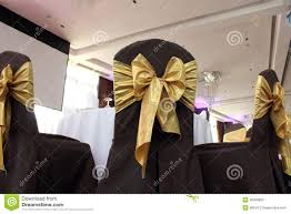Chair Tie Backs Chair Gold Bow Tie Stock Photo Image Of Party Romantic 40906852