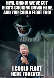 Risa Meme - pennywise floats chino imgflip