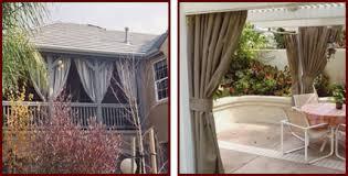 Outdoor Cabana Curtains Custom Outdoor Fabric Curtains Riverside San Bernardino Orange