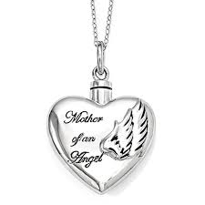 necklaces for ashes from cremation of an angel sterling silver cremation jewelry necklace
