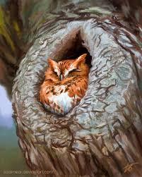 owl in a tree study by edarneor on deviantart