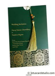 Invitation Card Magnificent Green Wedding Invitation Card With Dori