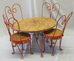 ice cream parlor table and chairs set 1920s doll ice cream parlor chairs table set