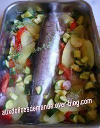 cuisiner truite au four truite saumonée pommes de terre et légumes au four light