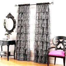 Sheer Ruffled Curtains Black Ruffle Curtains Ruffle Curtain Panels Window Curtains Black