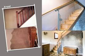 garde corps bois escalier interieur garde corps escalier design et verrière sur mesure en normandie