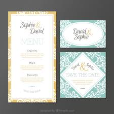 wedding invitations in ornamental wedding invitations in vintage style vector free