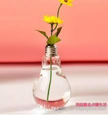 Flower Light Bulbs - light bulb glass flower vase desktop bulbs water culturer vase for