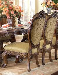 Aico Furniture Dining Room Sets Furniture Chic Wooden Dining Table Set With Fabric Seat And Back