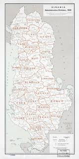 Map Of Albania Large Scale Detailed Administrative Divisions Map Of Albania