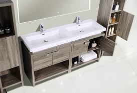 Sink Top Vanity 63 Inch Havana Oak Modern Bathroom Vanity With Integrated Sink Top