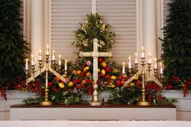 Decorating Home For Christmas Fine People Decorating Church For Christmas Wreath Garland At