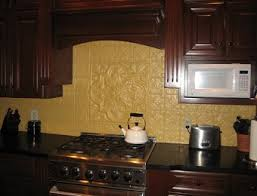 faux tin kitchen backsplash decorative ceiling tiles to transform your room from plain to