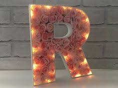 Home Decor Initials Letters Pink And White Nursery Decor Rose Filled Letters Rose Filled