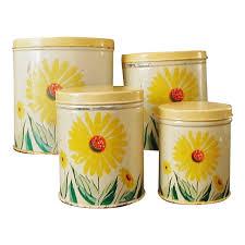 sunflower kitchen canisters 37 best vintage kitchen canister sets images on