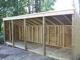 the creating of a wood storage shed does not consider a great deal
