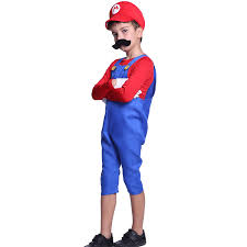mario costume for toddlers super plumber bros 80s video game fancy dress complete