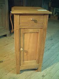 le de chevet ancienne table de nuit style ées 50 chêne et merisier ancienne