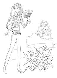 fashionable girls coloring pages 5 fashionable girls kids