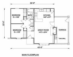 tudor style house plan 2 beds 1 baths 775 sq ft plan 116 113