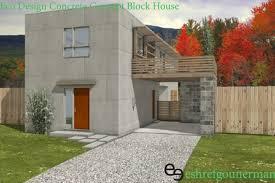 eco design green concept concrete block house eshref gounerman