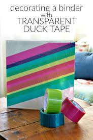 DECORATING A BINDER WITH TRANSPARENT DUCK TAPE Mad in Crafts