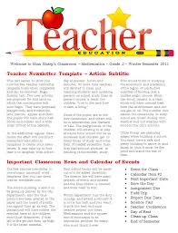 free resume templates for teachers to download teacher newsletter template editable newsletter template in