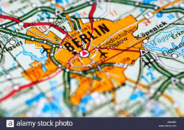 Map Of Berlin Germany by Map Of Berlin Germany Stock Photo Royalty Free Image 2137472 Alamy