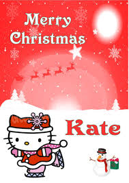 personalised kitty christmas card 1