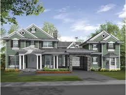 u shaped home with unique floor plan hwbdo64049 new american from