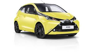yellow toyota truck toyota spices up aygo x cite with yellow fizz paint