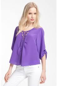nordstrom blouses get the look sofia vergara purple shirt in york